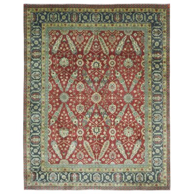 One-of-a-Kind Lovern Bakhtiari Oriental Hand-Woven Wool Red/Green Area Rug