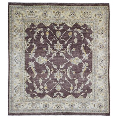 One-of-a-Kind Loughlin Pakistan Peshawar Oriental Hand-Woven Wool Burgundy/Beige Area Rug
