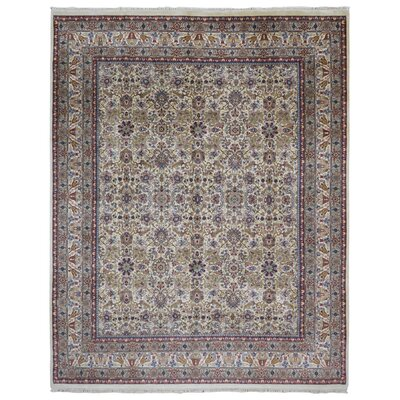 One-of-a-Kind Louisa Veramin Oriental Hand-Woven Wool Red/Beige Area Rug
