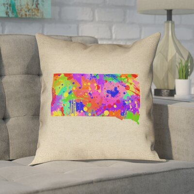 Chaput South Dakota Watercolor Pillow