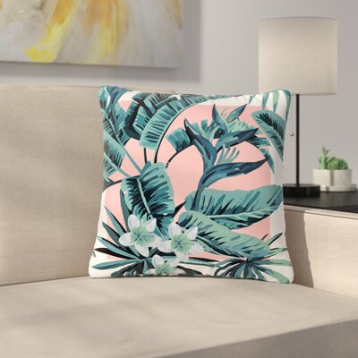 Monstera Nature Pop Art Outdoor Throw Pillow Size: 16 H x 16 W x 5 D