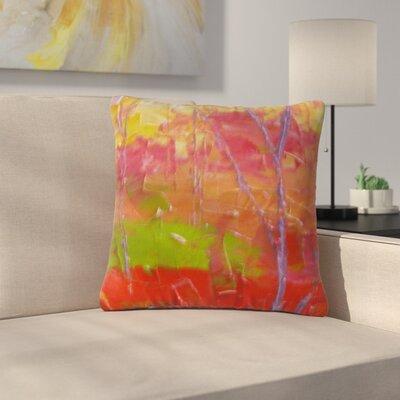 Jeff Ferst Colorful Garden Outdoor Throw Pillow Size: 16 H x 16 W x 5 D