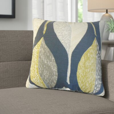 Sutton Geometric Cotton Throw Pillow Color: Indigo