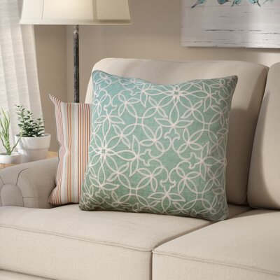 Harley Embroidered Throw Pillow Color: Sea Foam