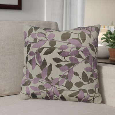 Franciscan Throw Pillow Size: 22 H x 22 W x 4 D, Color: Plum / Gray/Beige, Filler: Down
