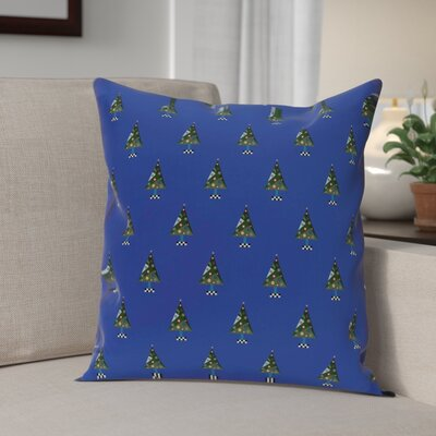 Crazy Christmas Decorative Holiday Print Throw Pillow Size: 18 H x 18 W, Color: Royal Blue