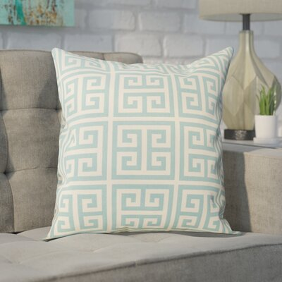 Blevins 100% Cotton Throw Pillow Color: Blue, Size: 18 H x 18 W
