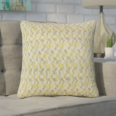 Creel Chevron Throw Pillow Color: Citron