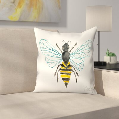 Cat Coquillette Honey Bee Throw Pillow Size: 14 x 14