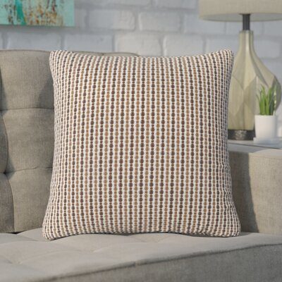 Tangerang Dot Throw Pillow Color: Light/Dark Brown