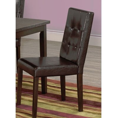 Newton Upholstered Dining Chair (Set of 2) Upholstery Color: Brown