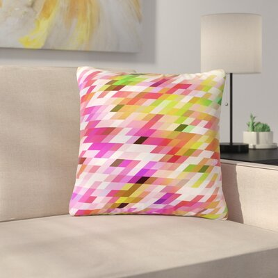 Dawid Roc Spring Summer Geometric Digital Outdoor Throw Pillow Size: 18 H x 18 W x 5 D