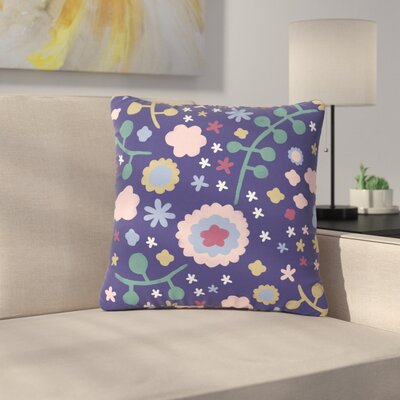 Alik Arzoumanian Morning Flowers Outdoor Throw Pillow Size: 18 H x 18 W x 5 D, Color: Blue