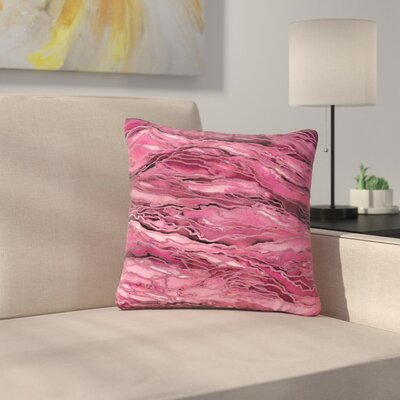 Marble Idea! Throw Pillow Size: 16 H x 16 W x 6 D, Color: Coral / Pink