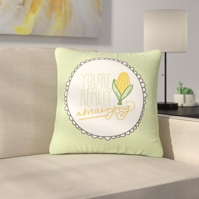 Busy Bree Amamzing Outdoor Throw Pillow Size: 18 H x 18 W x 5 D