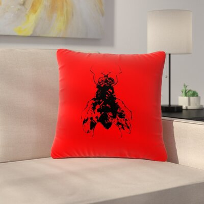 BarmalisiRTB the Fly Outdoor Throw Pillow Size: 16 H x 16 W x 5 D