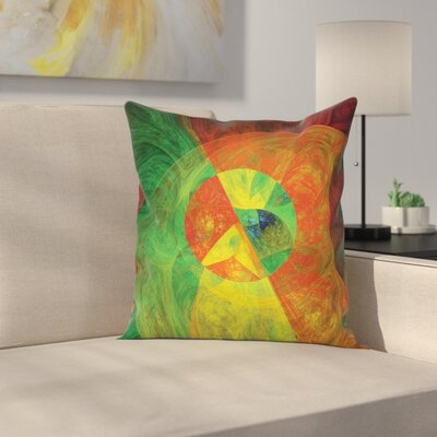 Fabric Abstract Artsy Surreal Square Pillow Cover Size: 18 x 18