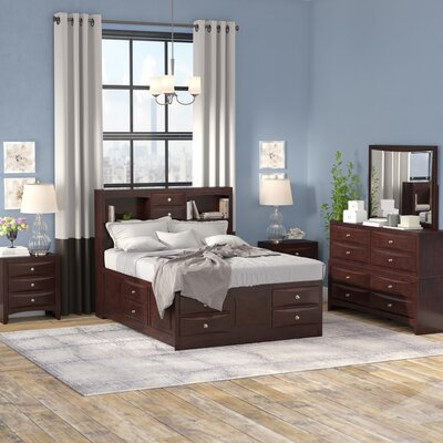 Oreland Platform 5 Piece Espresso Bedroom Set Size: Queen