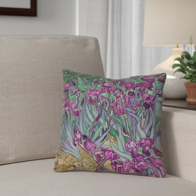 Morley Irises Throw Pillow Color: Pink, Size: 18 H x 18 W