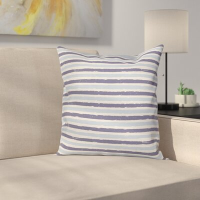 Stripe Sketchy Stripes Square Cushion Pillow Cover Size: 18 x 18