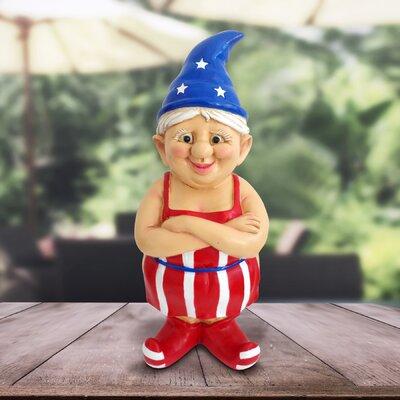Doster Female Patriotic Naked Gnome Statue F1C32FDE5B924367A27A3EBB1E0EF896