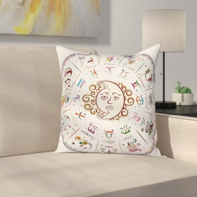 Forecast Astrology Zodiac Sign Square Pillow Cover Size: 20 x 20