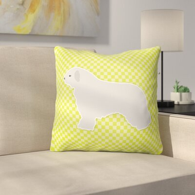 Spanish Water Dog Indoor/Outdoor Throw Pillow Size: 18 H x 18 W x 3 D, Color: Green