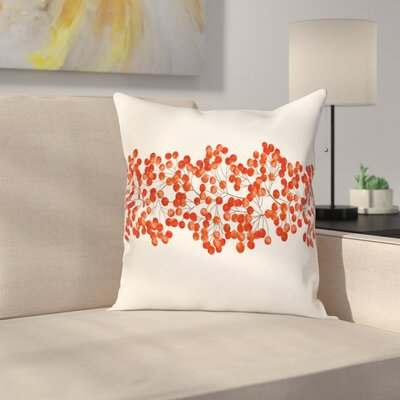 Wild Mountain Ashes Square Pillow Cover Size: 24 x 24