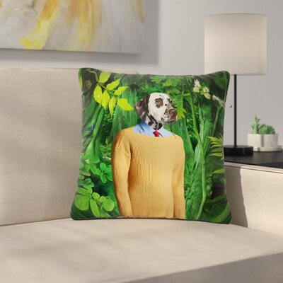 Natt Into the Leaves N1 Dog Outdoor Throw Pillow Size: 16 H x 16 W x 5 D