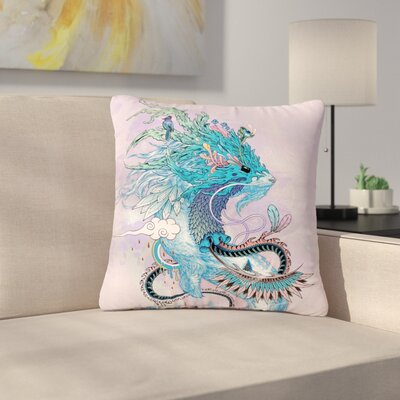 Mat Miller Journeying Spirit (Ermine) Fantasy Outdoor Throw Pillow Size: 16 H x 16 W x 5 D