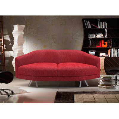 Betances Modern Living Room Fabric Sofa Upholstery: Red
