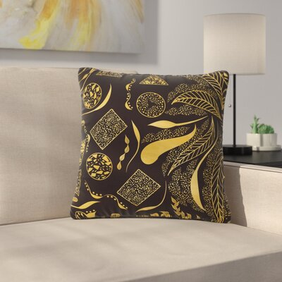 Famenxt Ornaments Outdoor Throw Pillow Size: 18 H x 18 W x 5 D