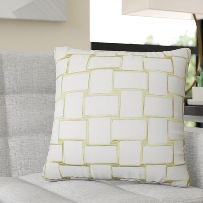 Reeve Geometric Throw Pillow Color: Peridot