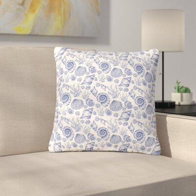 Alisa Drukman Seashells Coastal Abstract Outdoor Throw Pillow Size: 18 H x 18 W x 5 D