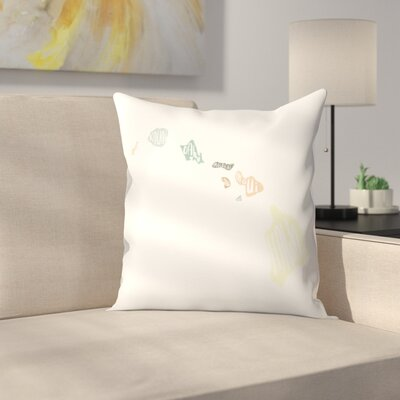 Jetty Printables Hawaiian Islands Typography Throw Pillow Size: 16 x 16