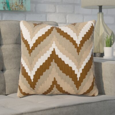 Stallworth Cotton Throw Pillow Size: 18 H x 18 W x 4 D, Color: Tan / Golden Brown / Green / Safari Tan / Papyrus, Filler: Polyester