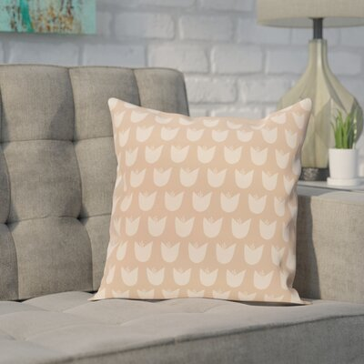 Sharrow Throw Pillow Size: 20 H x 20 W, Color: Taupe / Taupe/Beige