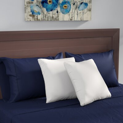 Square White Feather Pillow Insert Size: 16 x 16
