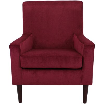 Donham Armchair Upholstery: Wine Red