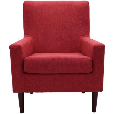 Donham Armchair Upholstery: Marsala Red