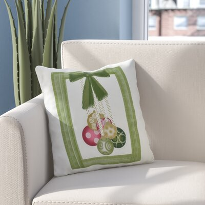 Frame It Up Outdoor Throw Pillow Size: 16 H x 16 W, Color: Bright Green