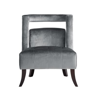 Neymar Open Back Slipper Chair Upholstery: Gray