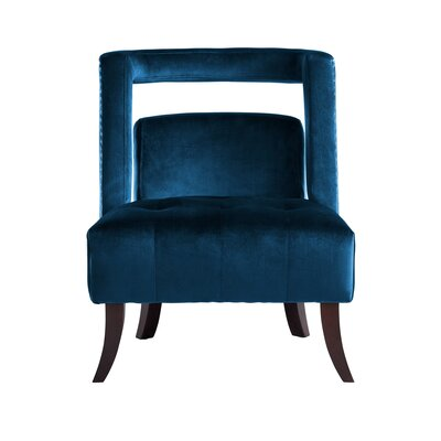 Neymar Open Back Slipper Chair Upholstery: Navy