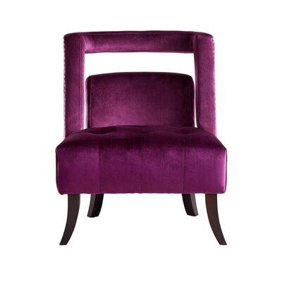 Neymar Open Back Slipper Chair Upholstery: Plum
