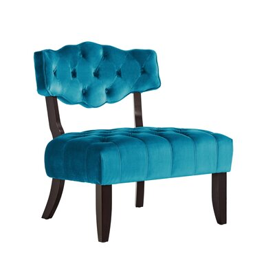 Jai Glam Diamond Slipper Chair Upholstery: Teal