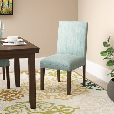 Pearl Parsons Chair Finish: Brown Cherry, Upholstery: Bahama
