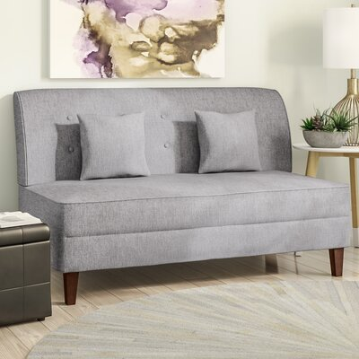 Dorsey Button Tufted Loveseat Upholstery: Gray