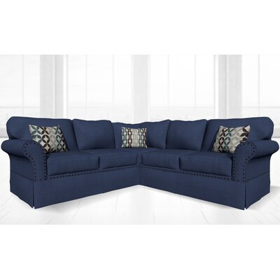 Crossen Sectional Upholstery: Clyde Deep Ocean