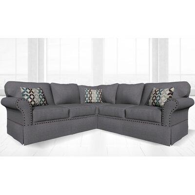 Crossen Sectional Upholstery: Jeopardy Smoke