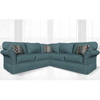 Crossen Sectional Upholstery: Conquest Aqua